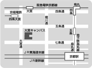 龍谷大学大宮学舎の略地図