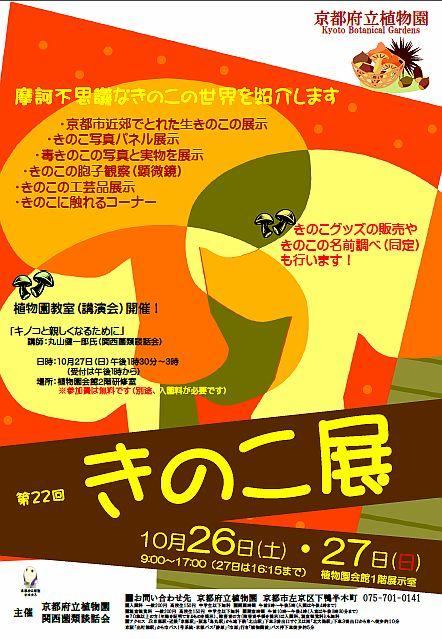 きのこ展2013ポスター